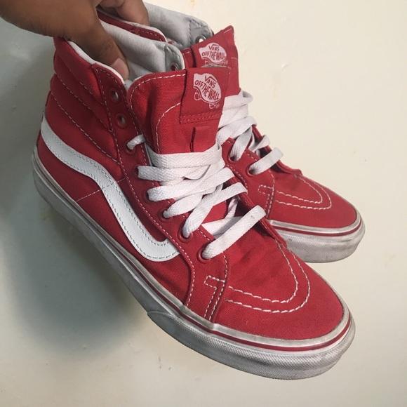 9abb20fdde6 Vans Shoes - Red Hi-top Vans